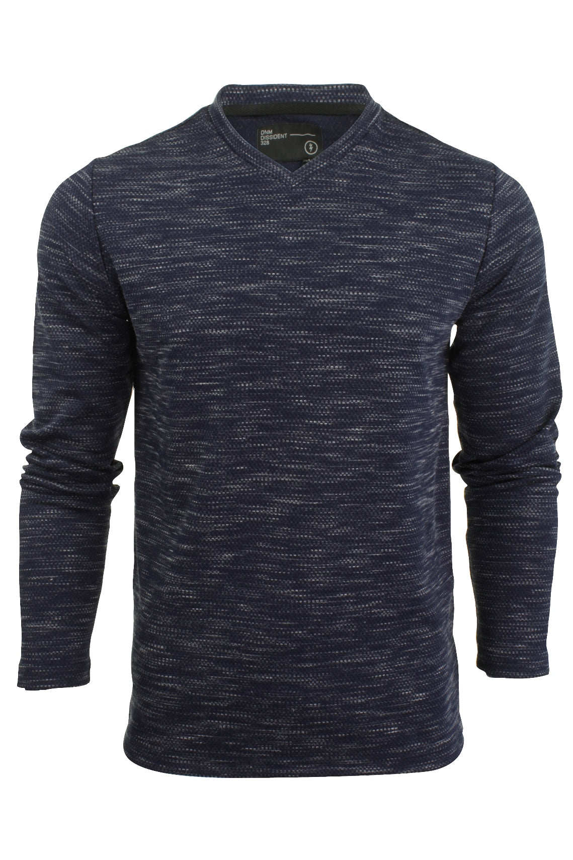 Mens Long Sleeved T-Shirt by Dissident 'Drover' V-Neck-Main Image