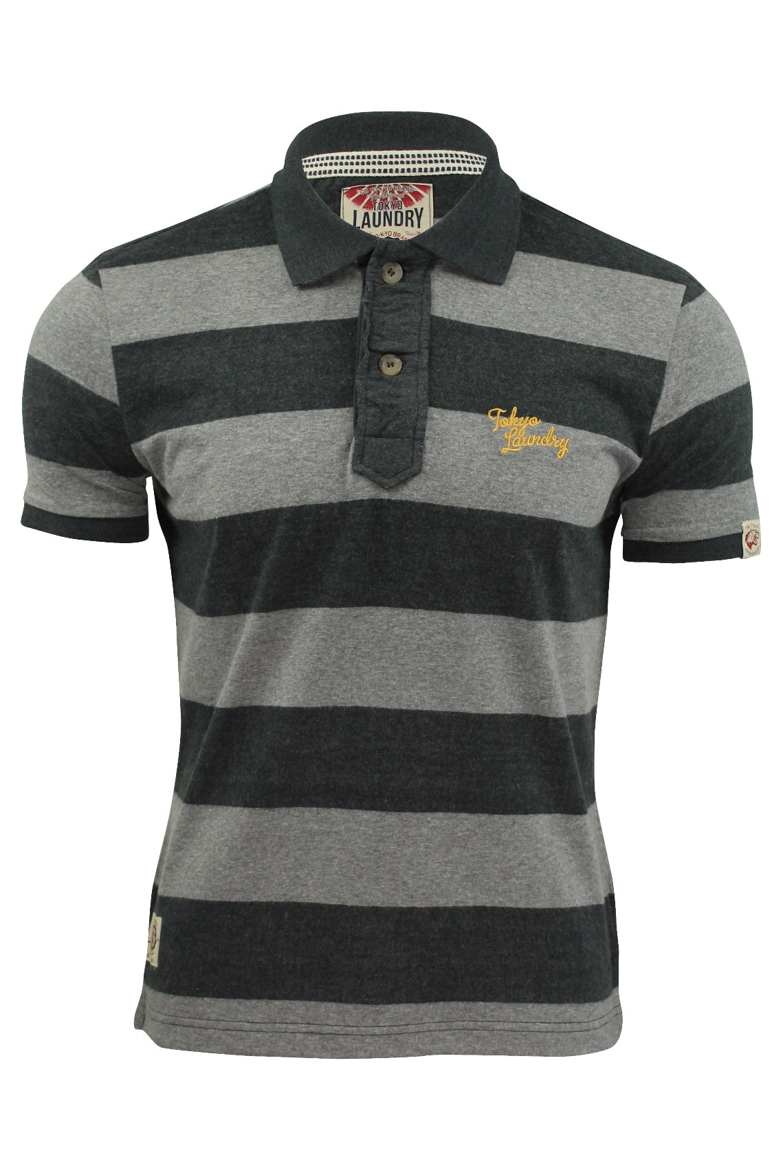 Mens Polo Shirt by Tokyo Laundry 'Hunters Pass' Block Stripe-Main Image