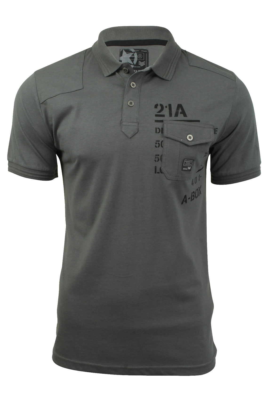 Mens Polo T-Shirt by Dissident 'Milicia' Short Sleeved-Main Image
