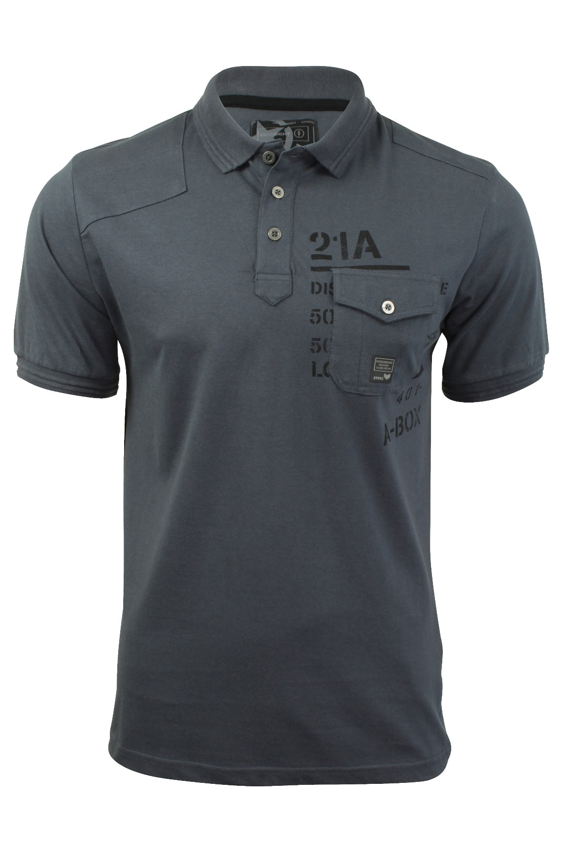 Mens Polo T-Shirt by Dissident 'Milicia' Short Sleeved-2