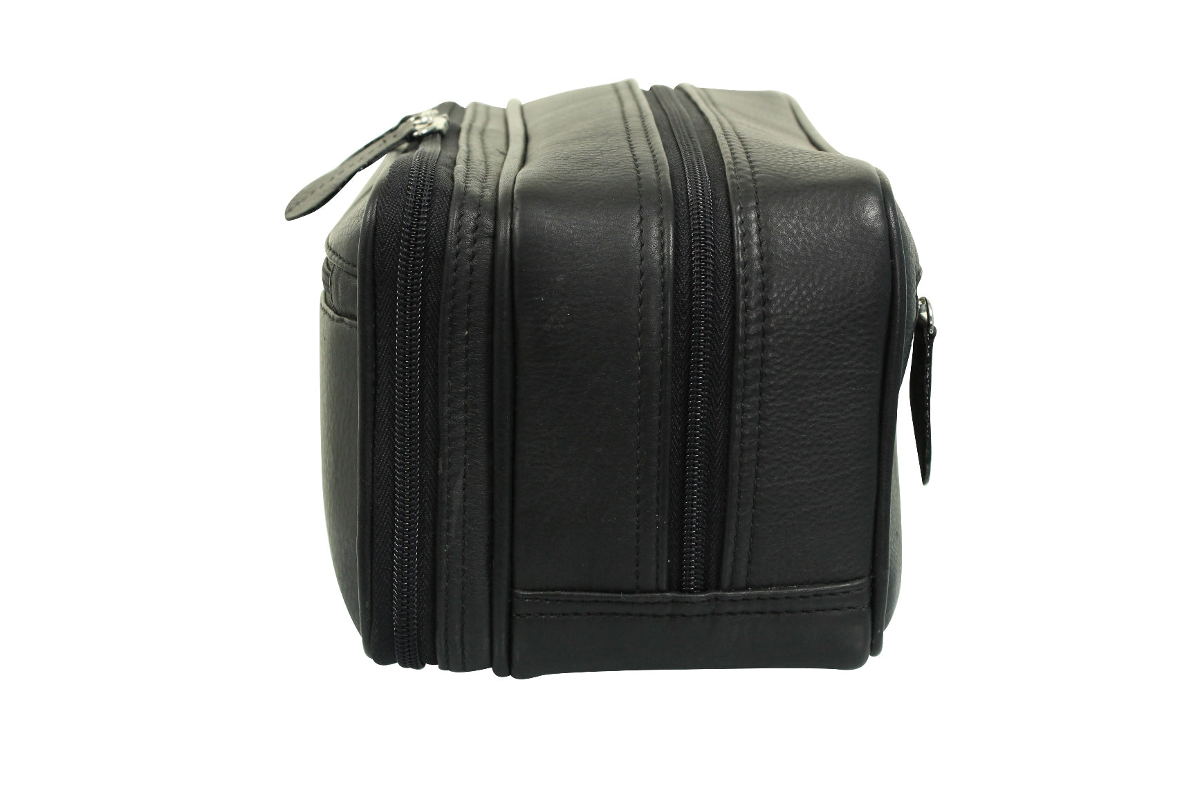 Real Leather Toiletry Wash Bag by Xact Clothing (Black)_02_20021_Black