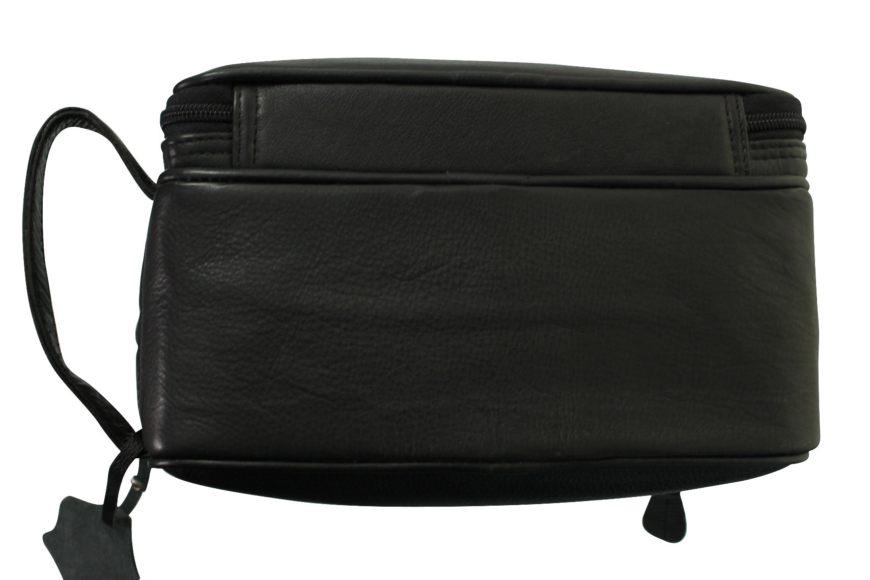 Real Leather Toiletry Wash Bag by Xact Clothing (Black)