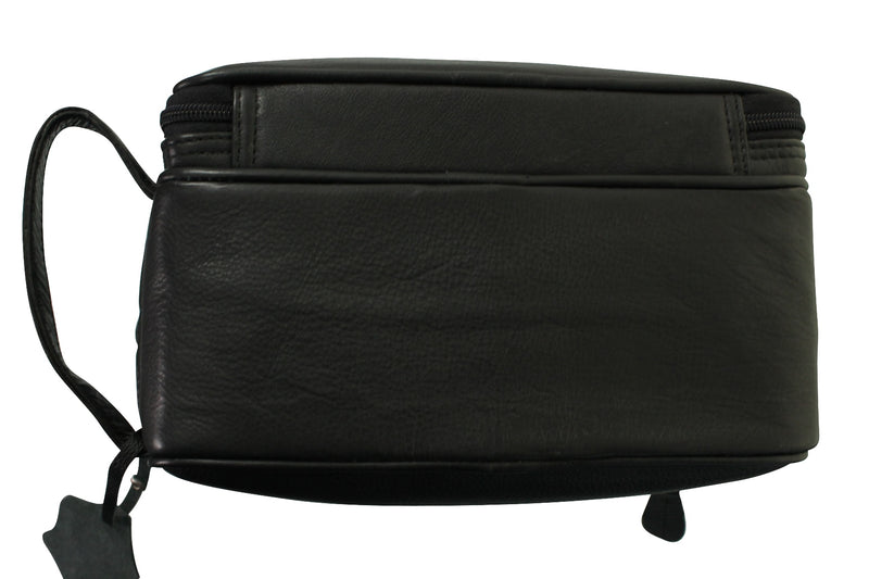 Real Leather Toiletry Wash Bag by Xact Clothing (Black), 06, 20021, #colour_Black