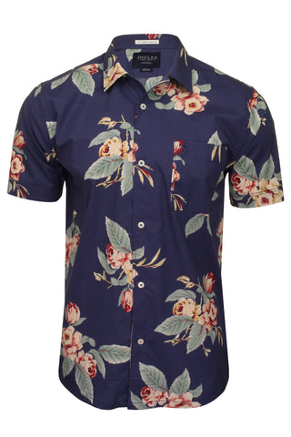 Joules Mens Floral Shirt 'Revere' - Short Sleeved-Main Image