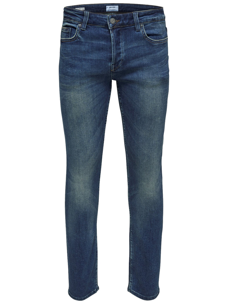 Only & Sons Men's Onsloom Blue Washed Ld Pk 1281noos Slim Jeans, 01, , #colour_