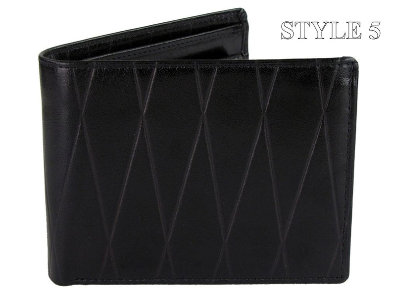 Xact Men's Leather Embossed Wallet, 01, KIT_540, #colour_Black