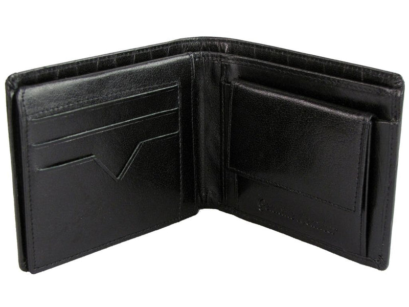 Xact Men's Leather Embossed Wallet, 02, KIT_540, #colour_Black