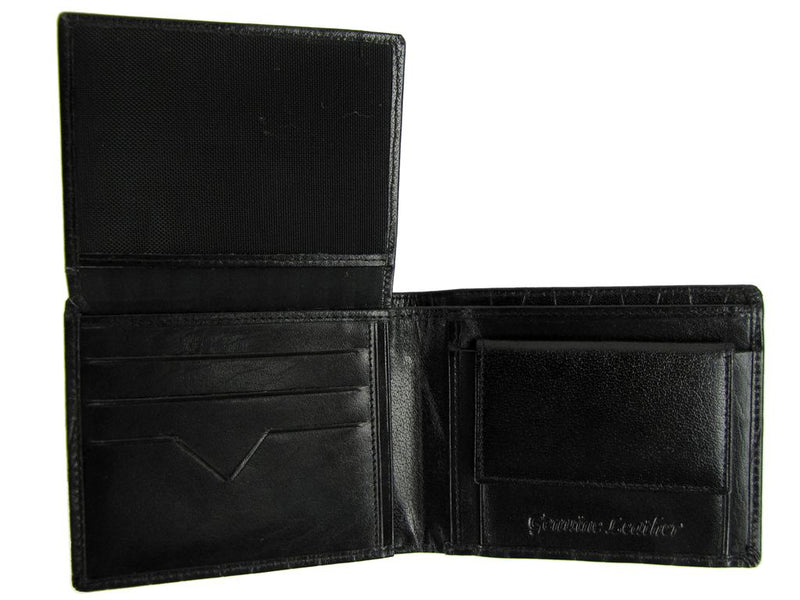 Xact Men's Leather Embossed Wallet, 03, KIT_540, #colour_Black