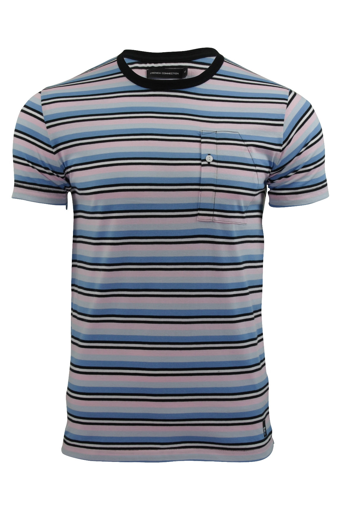 Mens T-Shirt by FCUK/French Connection Striped Spritzer-Main Image