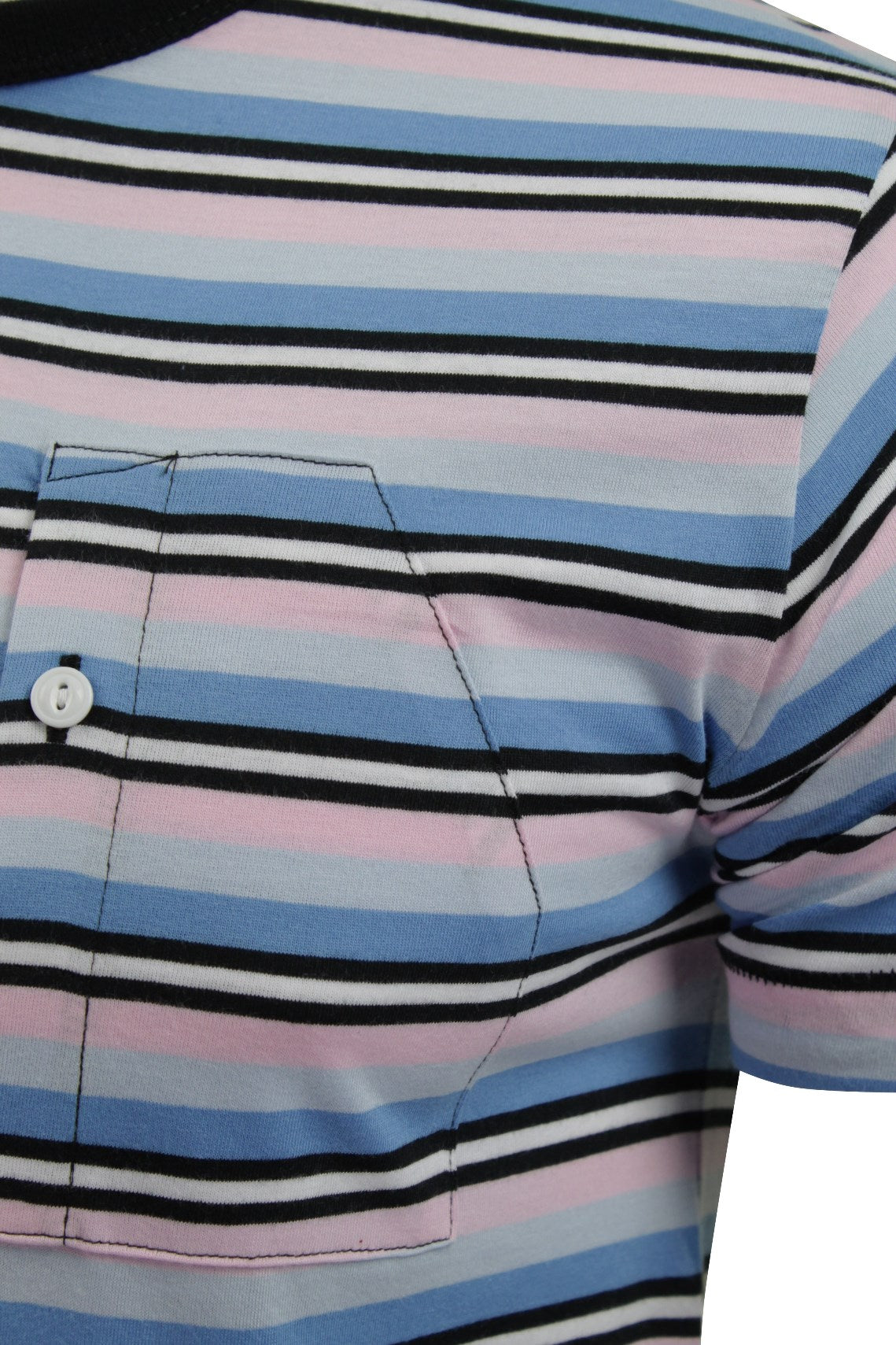 Mens T-Shirt by FCUK/French Connection Striped Spritzer-2