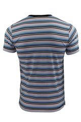 Mens T-Shirt by FCUK/French Connection Striped Spritzer-3