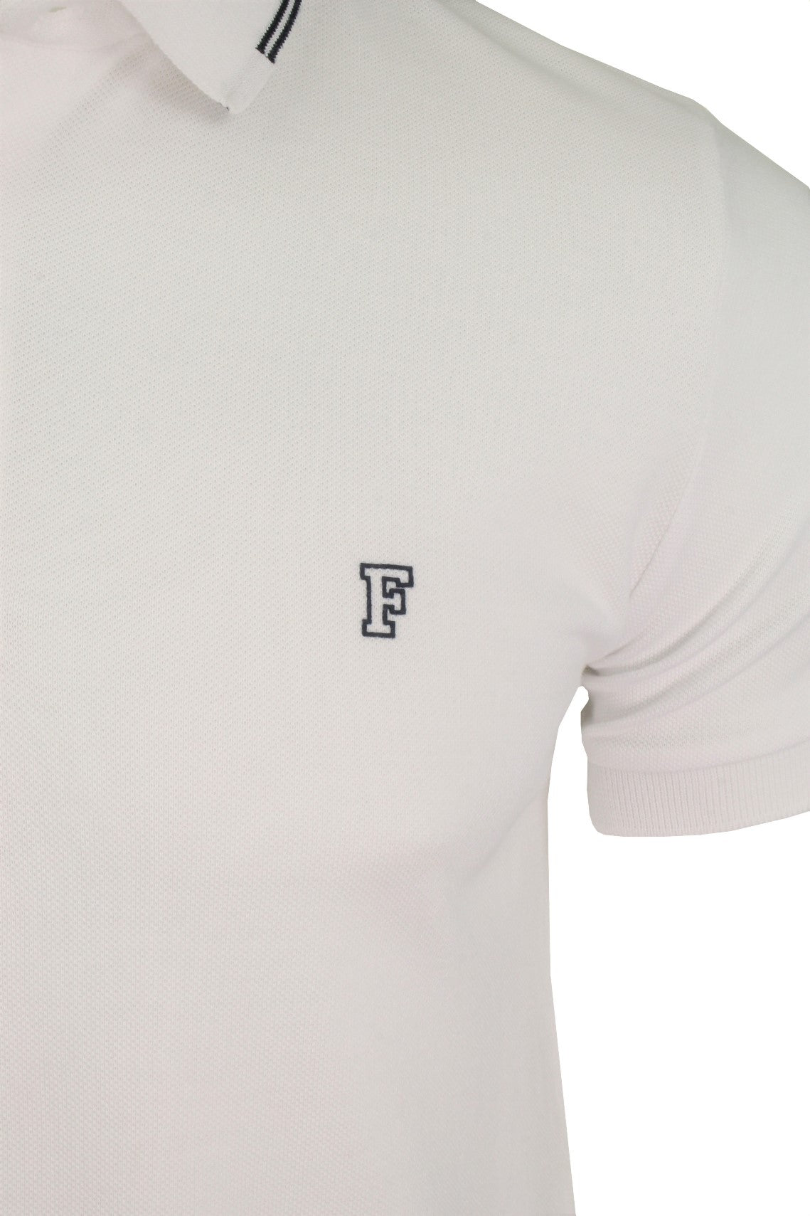 Mens Polo T-Shirt by FCUK/ French Connection Black Tipping-2