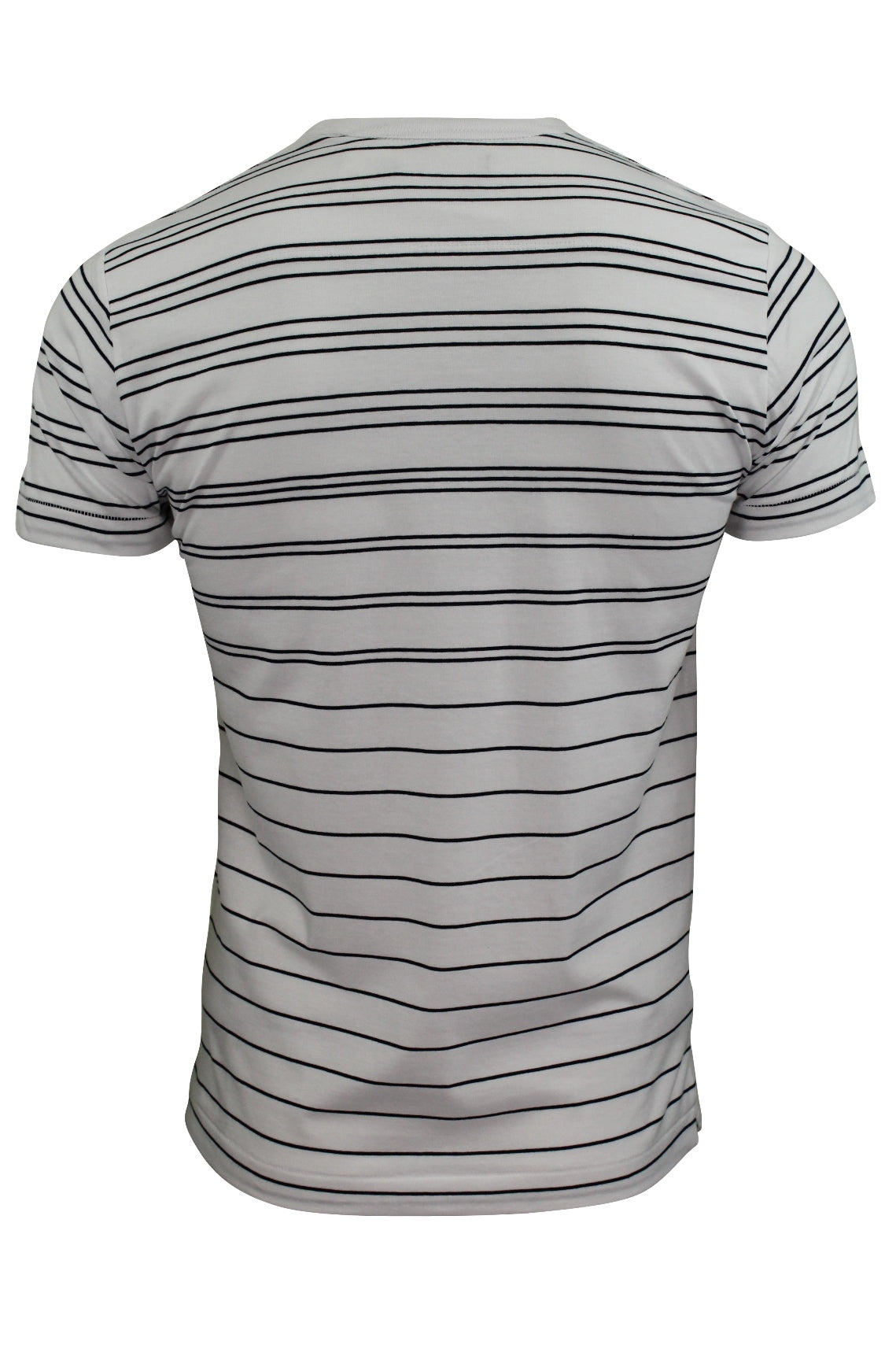 Mens T-Shirt by FCUK/French Connection Summer Graded Stripe-3
