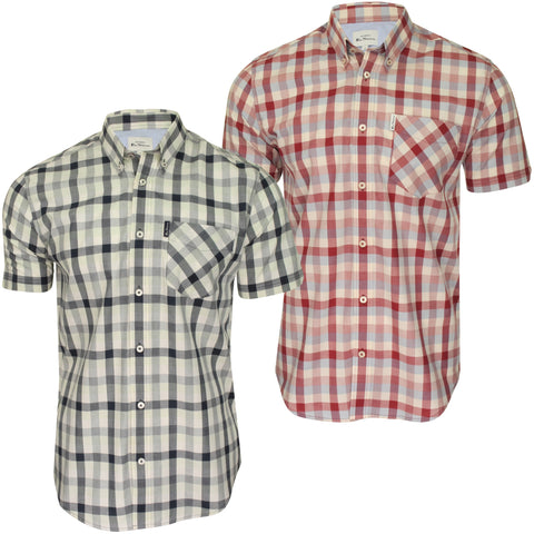 Ben Sherman Mens Check Shirt - Short Sleeved-Main Image