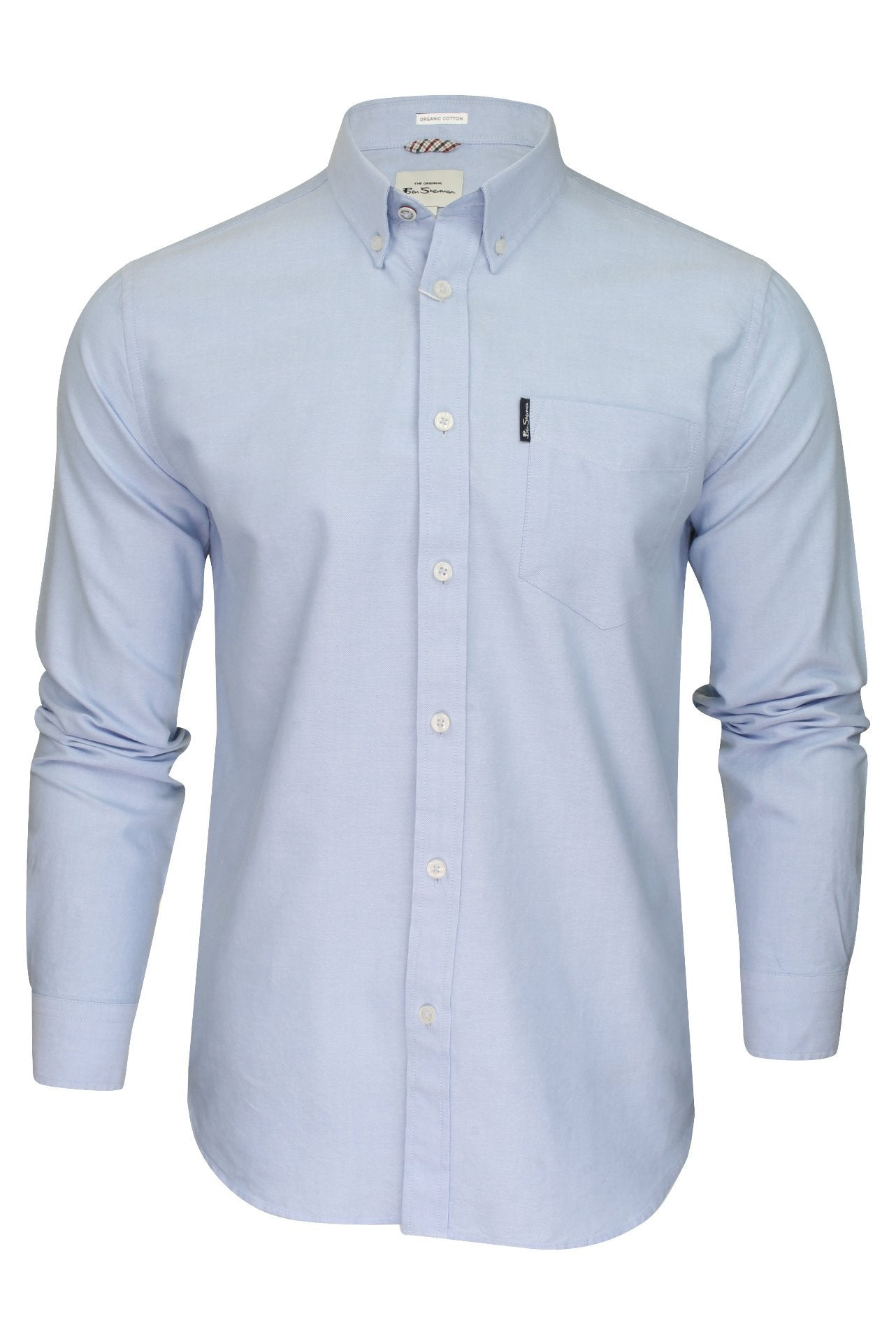 Ben Sherman Mens Oxford Shirt - Long Sleeved-Main Image