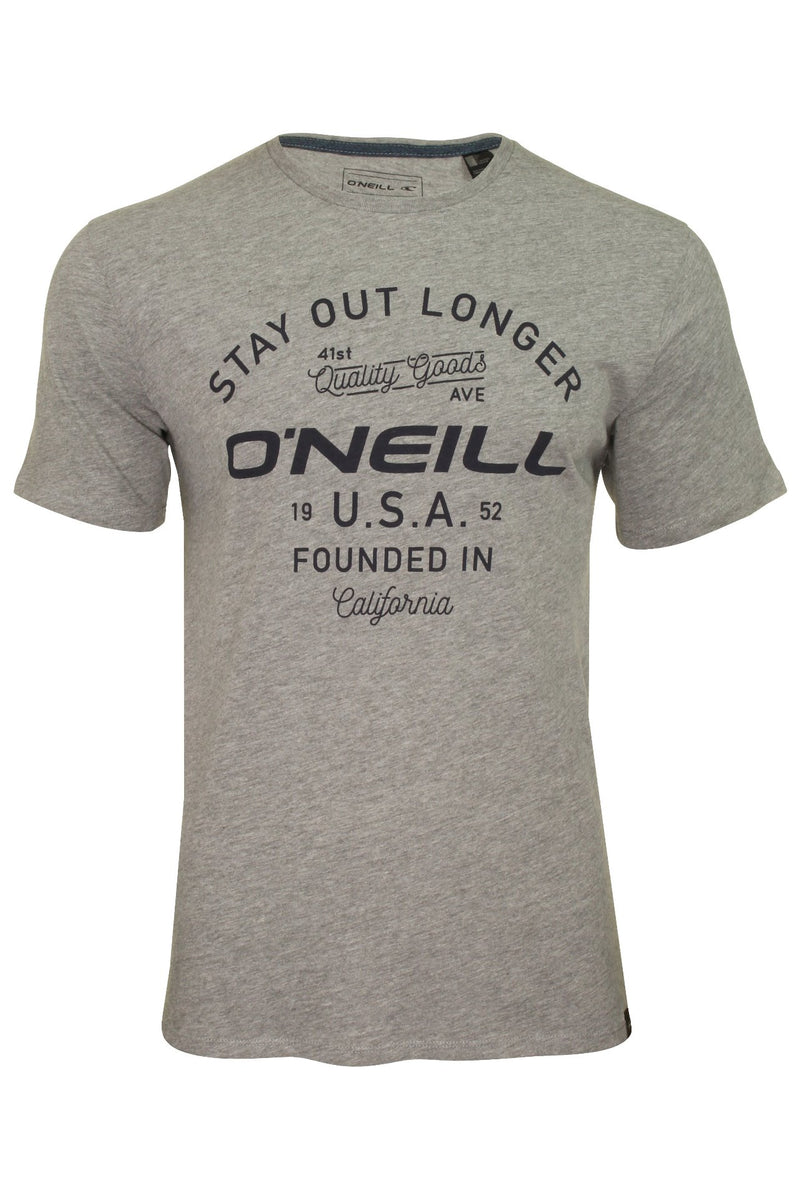 O'Neill Mens 'Foundation' T-Shirt, 01, 8P2332, #colour_Silver Melee