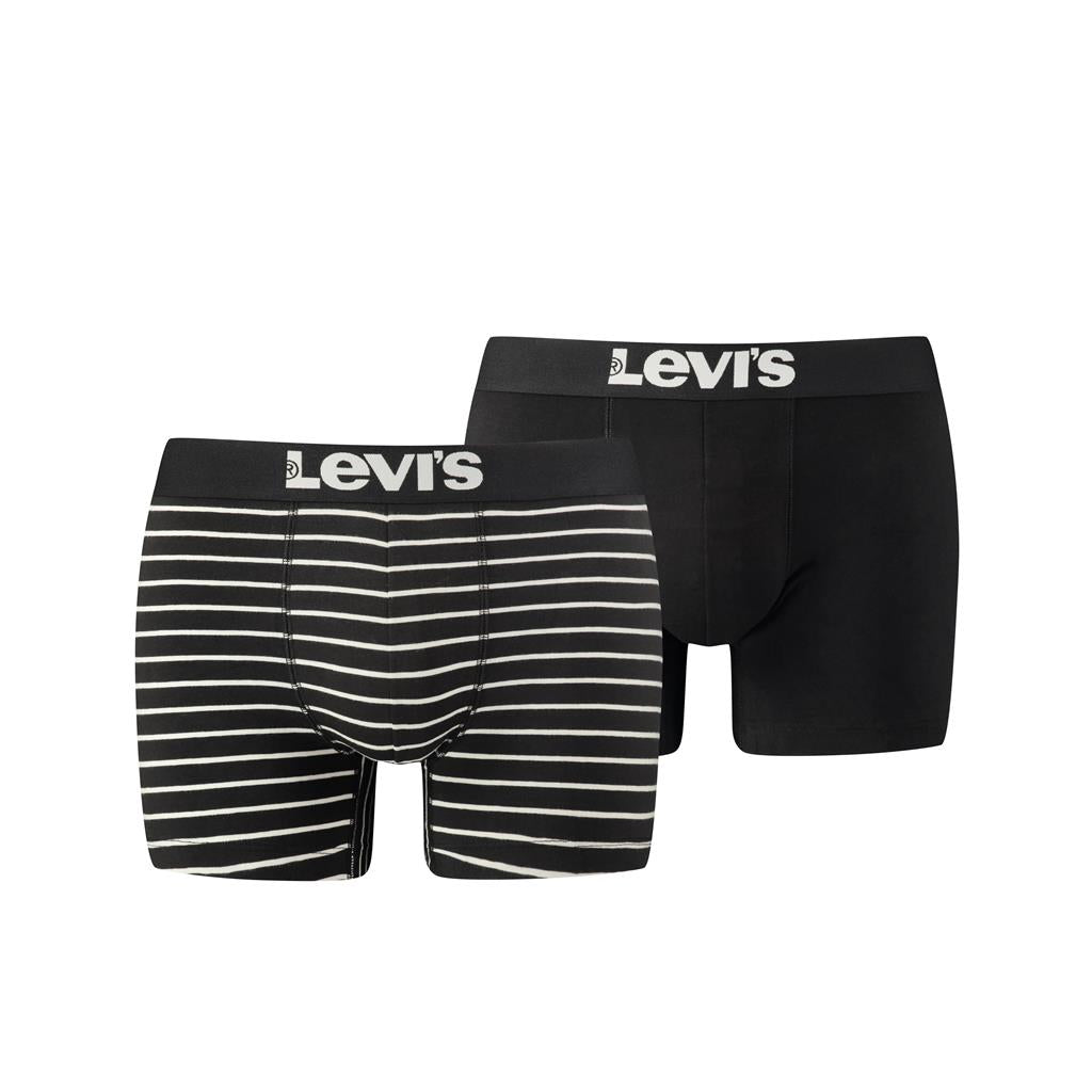 Levi's Mens 'Vintage Stripe' Boxer Shorts (2-Pack)-Main Image