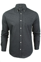 Mens Oxford Shirt by Crosshatch 'Almond' Long Sleeved-2
