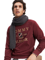 Tommy Hilfiger Mens 'Pima Cotton' Beanie Hat and Scarf Gift Set, 04, Am0Am05186, #colour_Dark Grey Melange