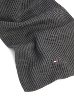 Tommy Hilfiger Mens 'Pima Cotton' Beanie Hat and Scarf Gift Set, 03, Am0Am05186, #colour_Dark Grey Melange