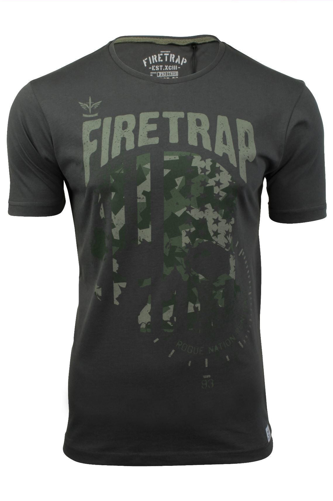Mens T-Shirt by Firetrap 'Anacost' Short Sleeved-Main Image