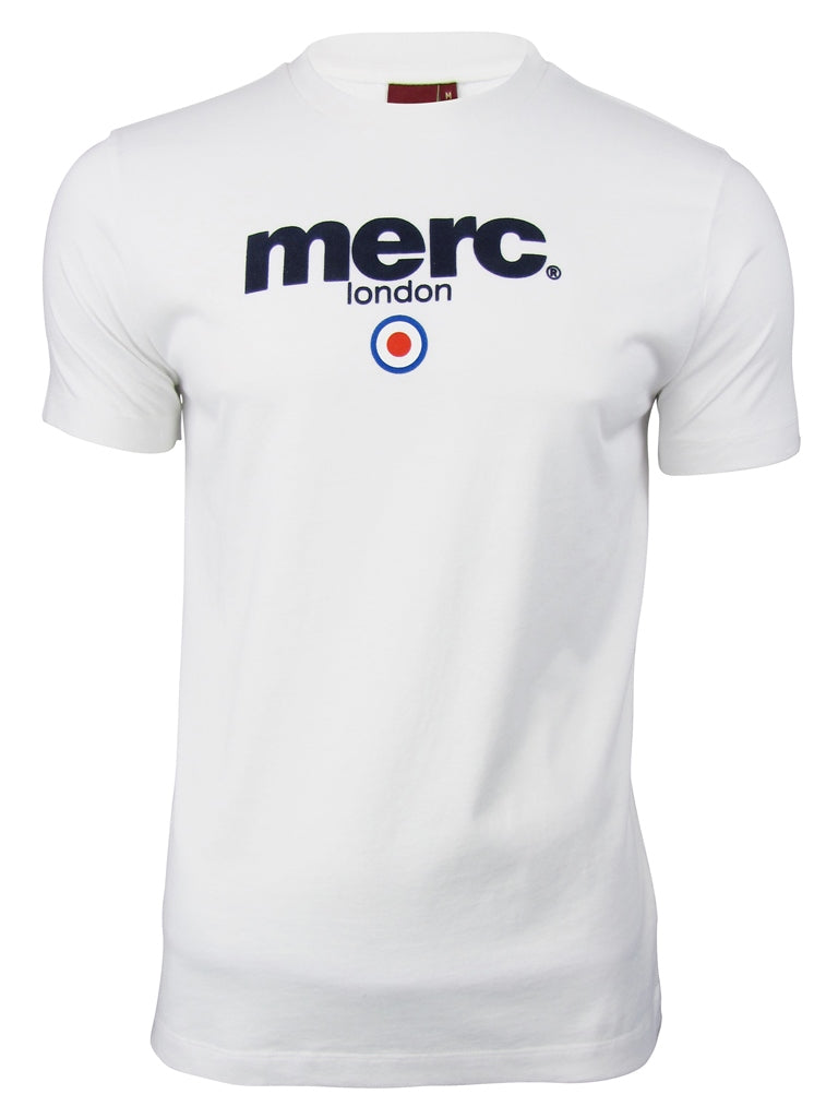 Mens Merc London T Shirt 'Brighton' with Target Flock-Main Image