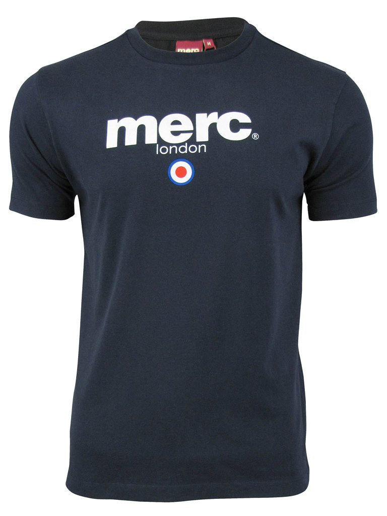 Mens Merc London T Shirt 'Brighton' with Target Flock-2