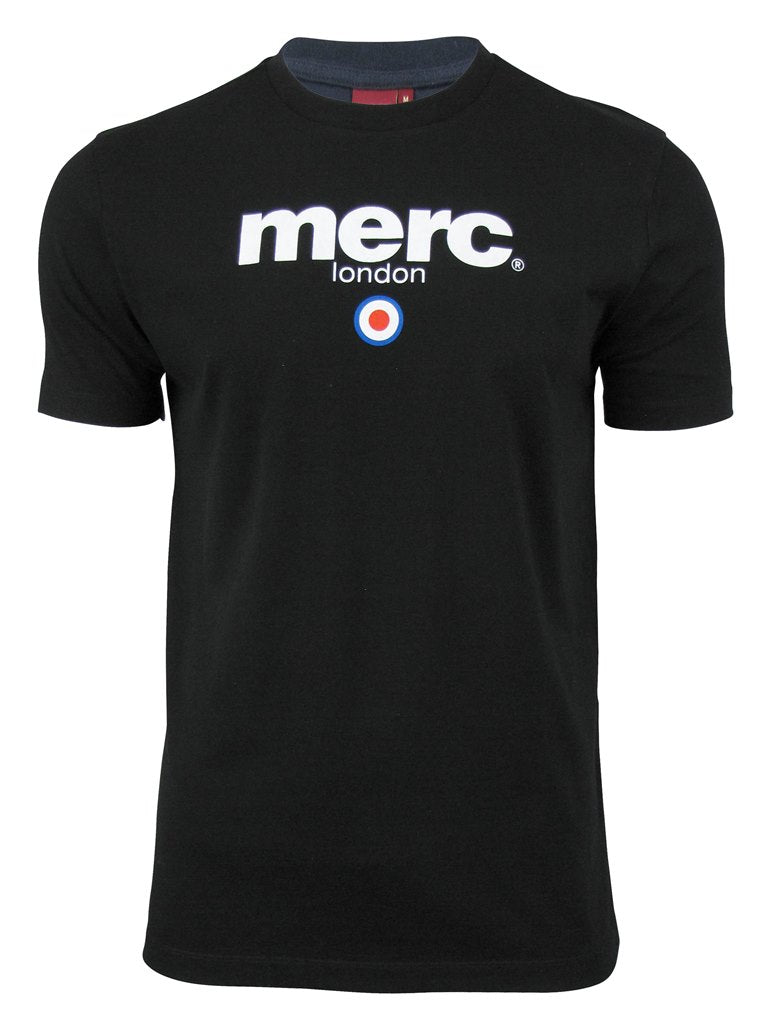 Mens Merc London T Shirt 'Brighton' with Target Flock-4