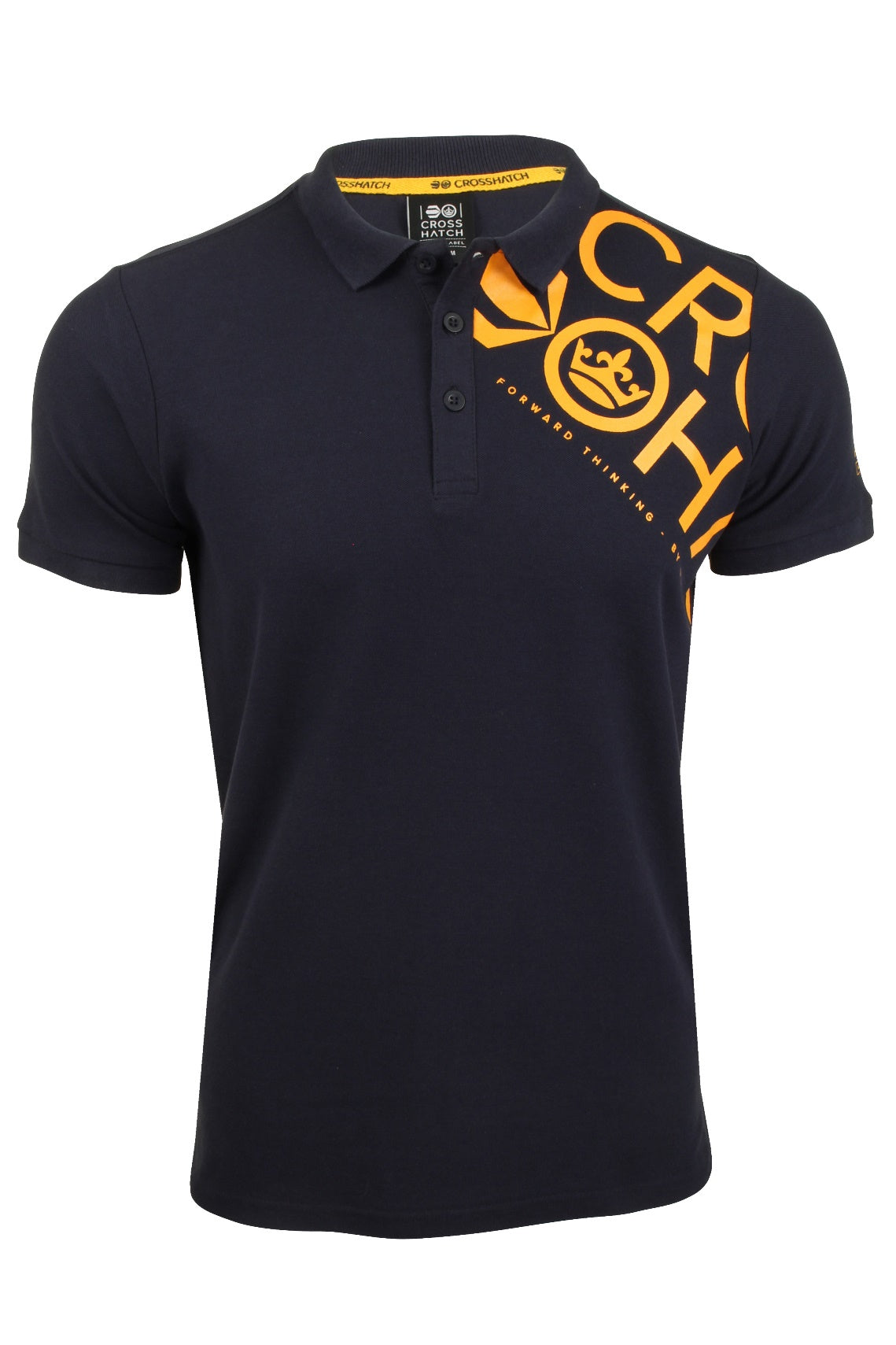 Mens Polo T-Shirt by Crosshatch 'Tennyson' Short Sleeved-2