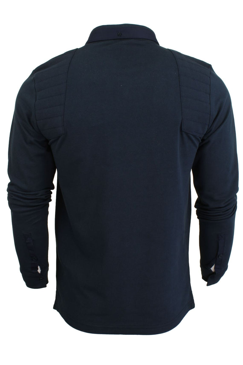 Mens Short Sleeved Polo Shirt from the Blackout Collection by Voi Jeans, 03, Dubb, #colour_Cole - Black Irish