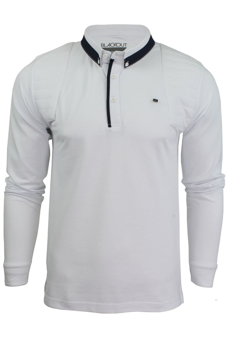 Mens Short Sleeved Polo Shirt from the Blackout Collection by Voi Jeans, 01, Dubb, #colour_Cole - White