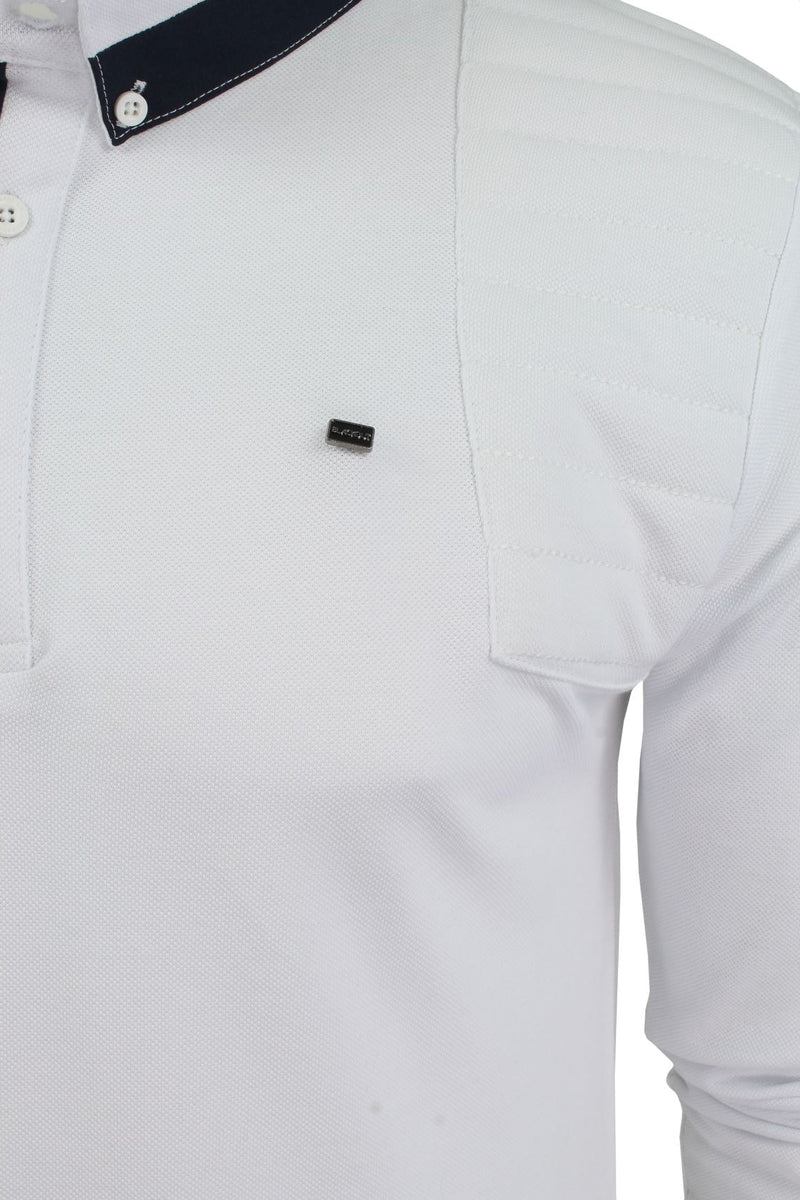 Mens Short Sleeved Polo Shirt from the Blackout Collection by Voi Jeans, 02, Dubb, #colour_Cole - White