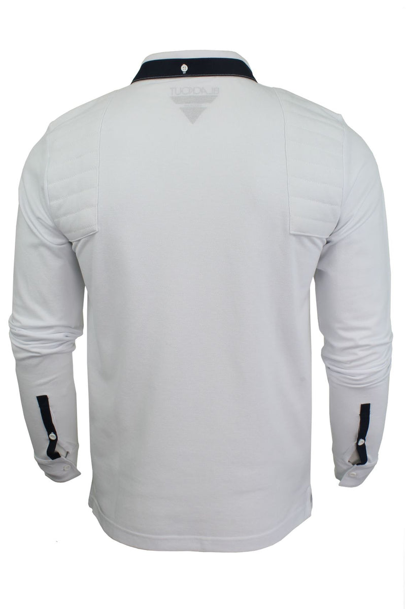Mens Short Sleeved Polo Shirt from the Blackout Collection by Voi Jeans, 03, Dubb, #colour_Cole - White
