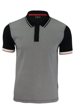 Mens Polo T-Shirt by Merc 'Corona' Dog Tooth Front Short Sleeved-Main Image