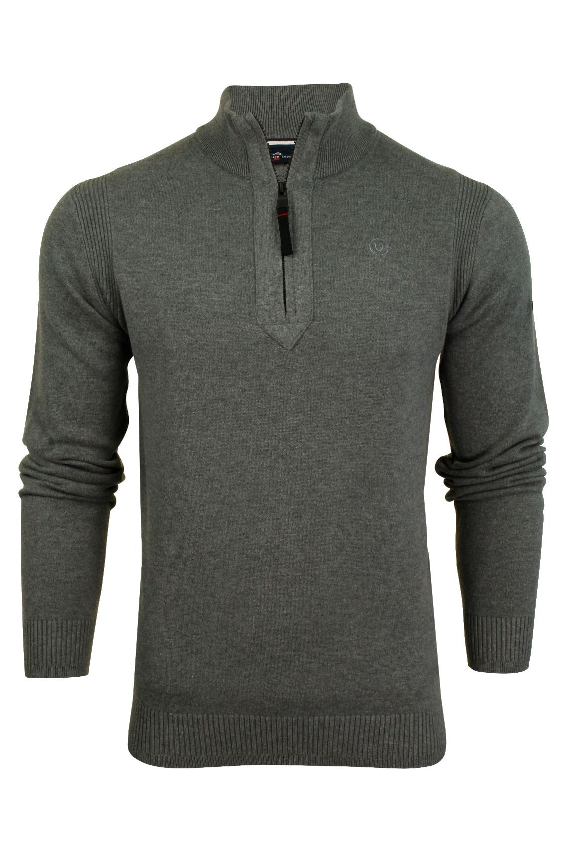 Mens 1/4 Zip Neck Jumper by Duck and Cover 'Latitude'-2