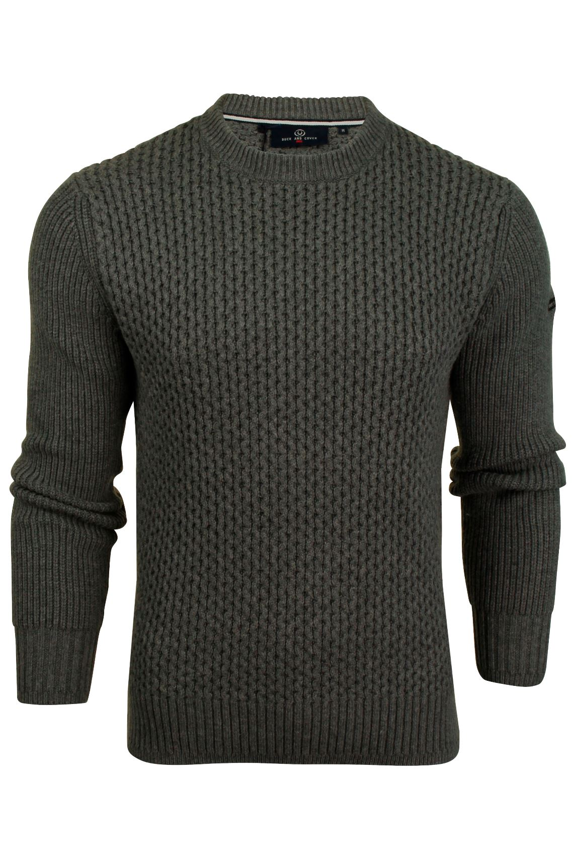 Mens Honeycombe Stitch Jumper by Duck and Cover 'Beam'-2
