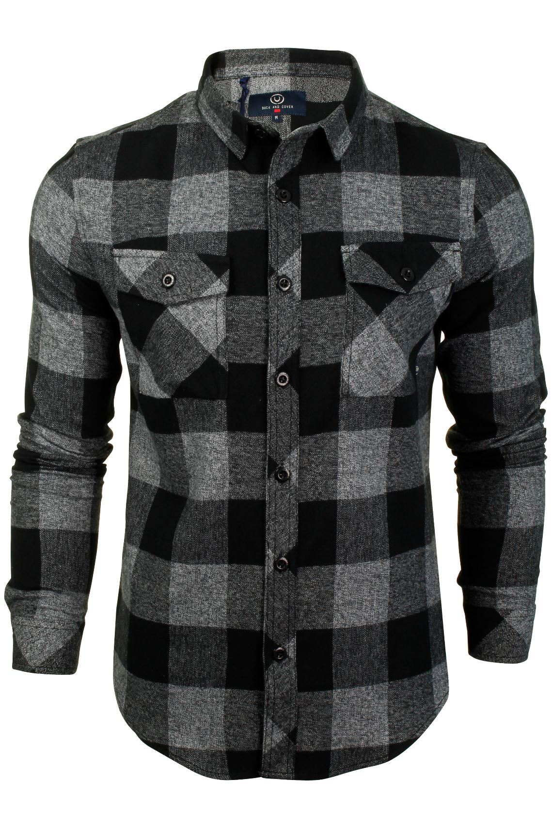 Mens Flannel Check Shirt by Duck and Cover 'Chapman'-2