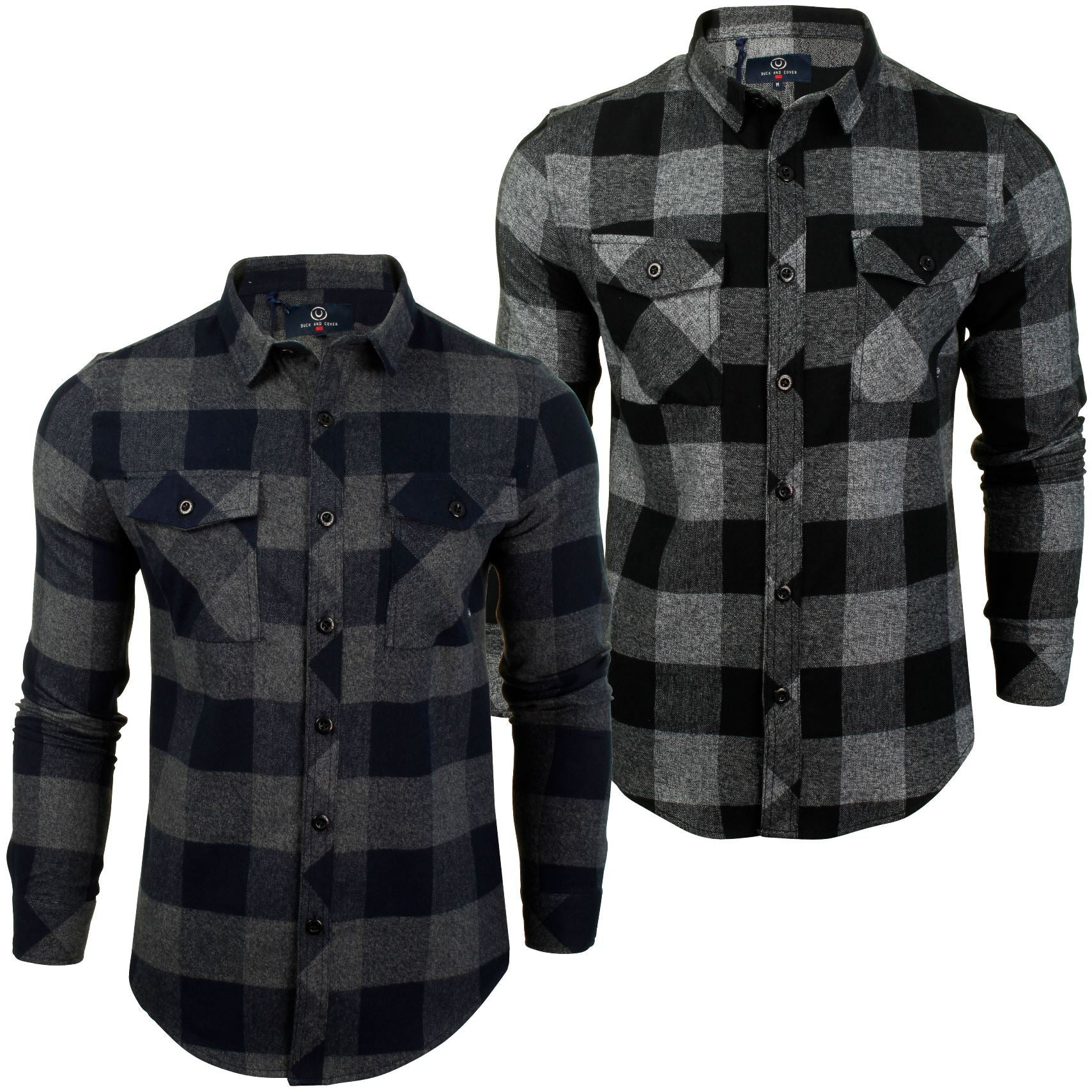 Mens Flannel Check Shirt by Duck and Cover 'Chapman'-Main Image