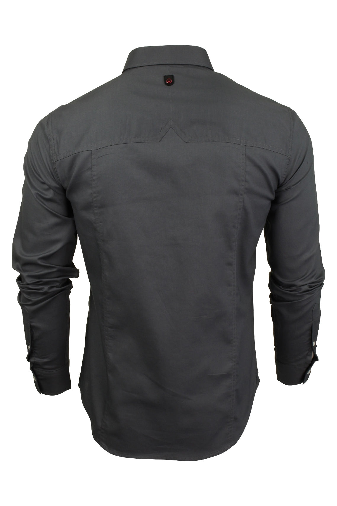 Mens Long Sleeved Shirt by Duck and Cover 'Birch'_03_Dc2G111535_Grey