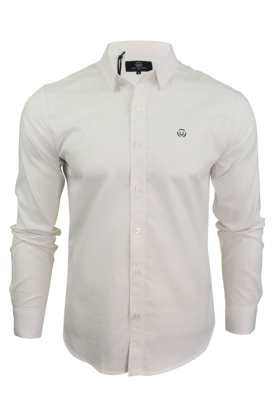 Mens Long Sleeved Shirt by Duck and Cover 'Birch'_01_Dc2G111535_White