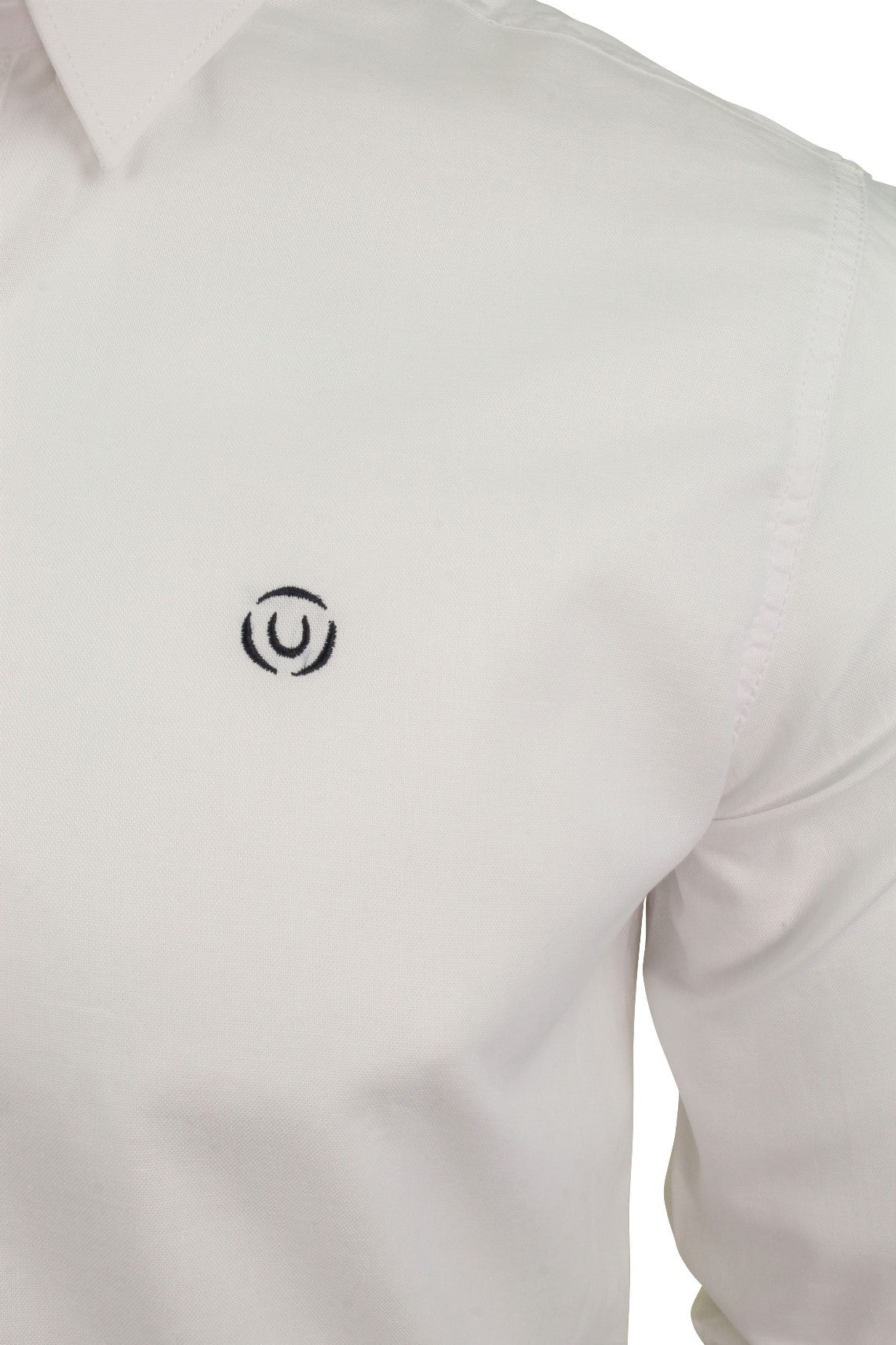 Mens Long Sleeved Shirt by Duck and Cover 'Birch'_02_Dc2G111535_White