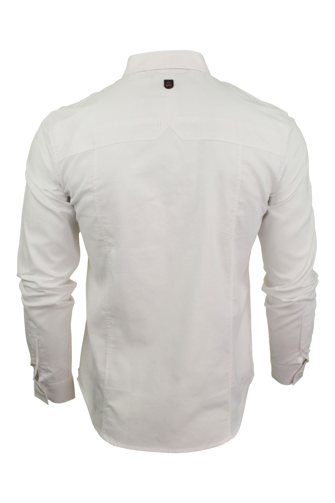 Mens Long Sleeved Shirt by Duck and Cover 'Birch'_03_Dc2G111535_White