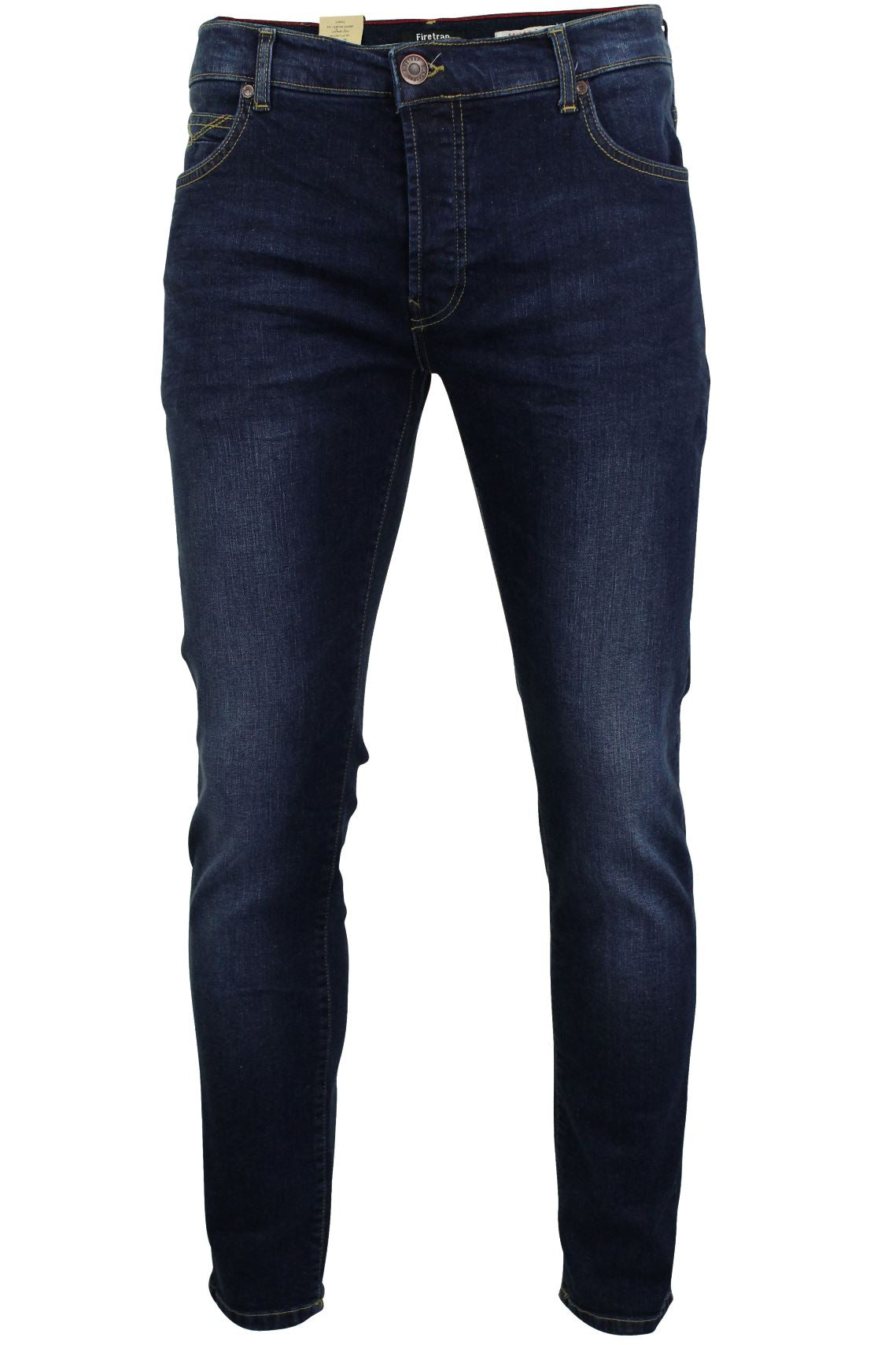 Mens Jeans by Firetrap 'Denhoff' Skinny Fit with Button Fly-Main Image