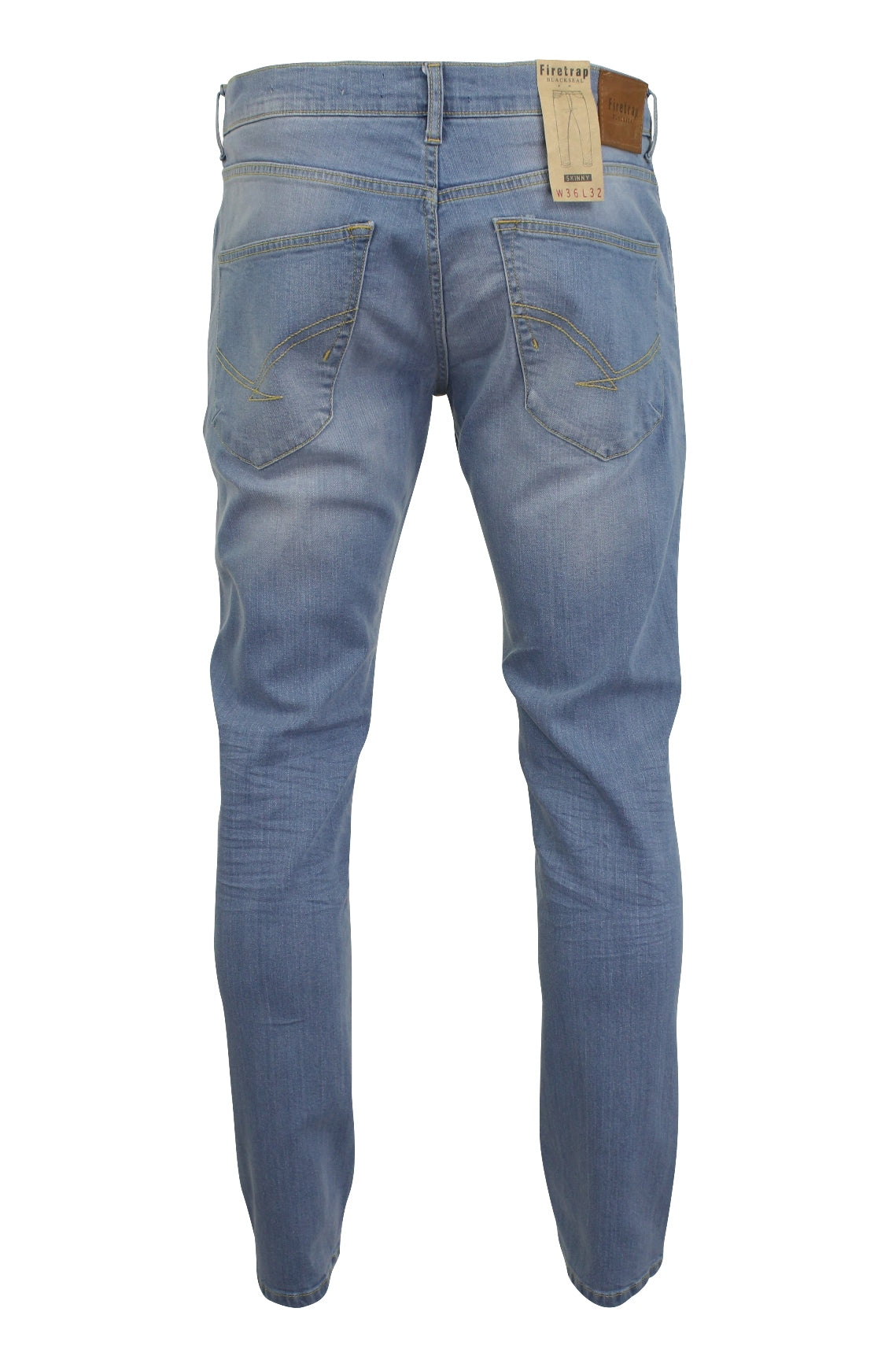 Mens Jeans by Firetrap 'Denhoff' Skinny Fit with Button Fly-3