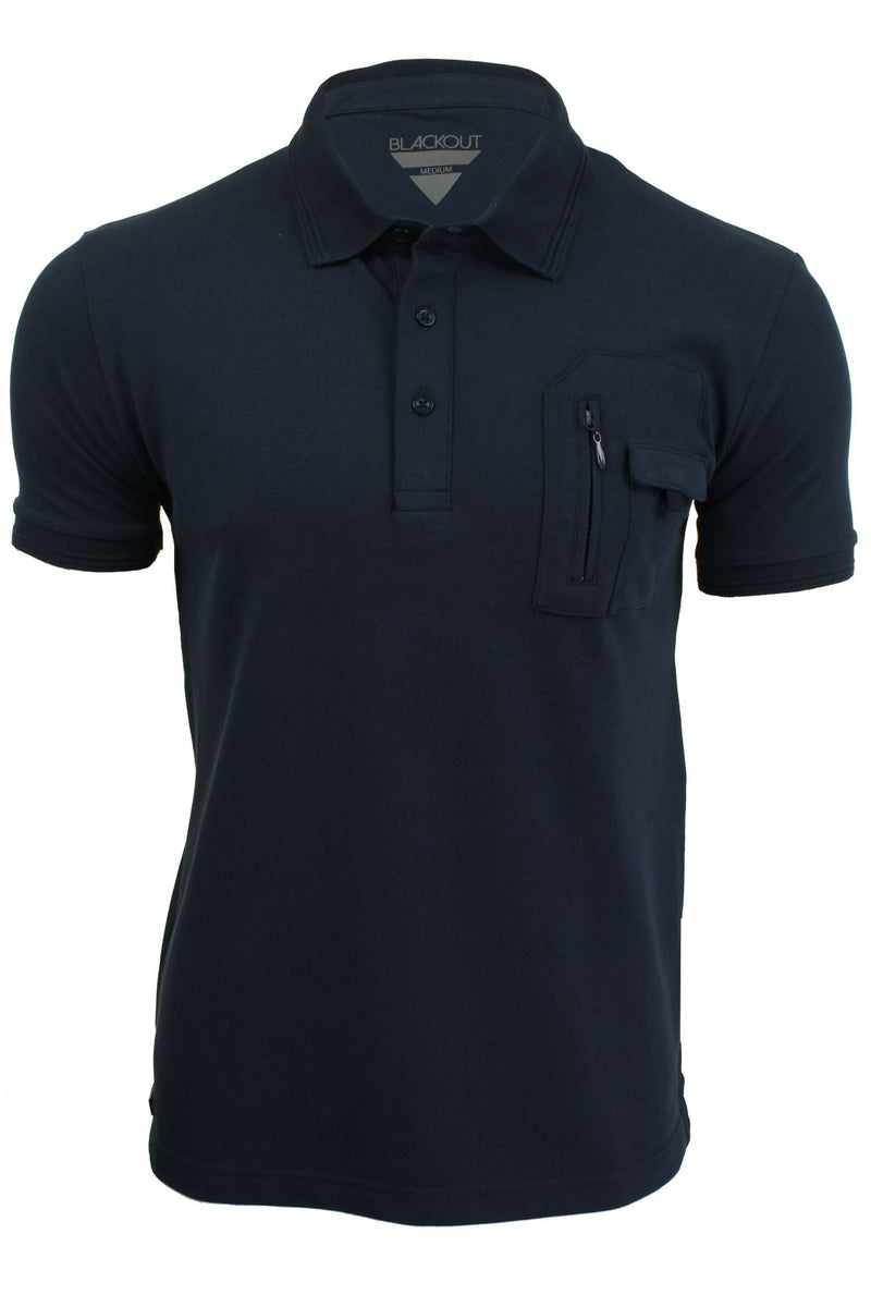 Mens Polo Shirt from the Blackout Collection by Voi Jeans, 01, Dubb