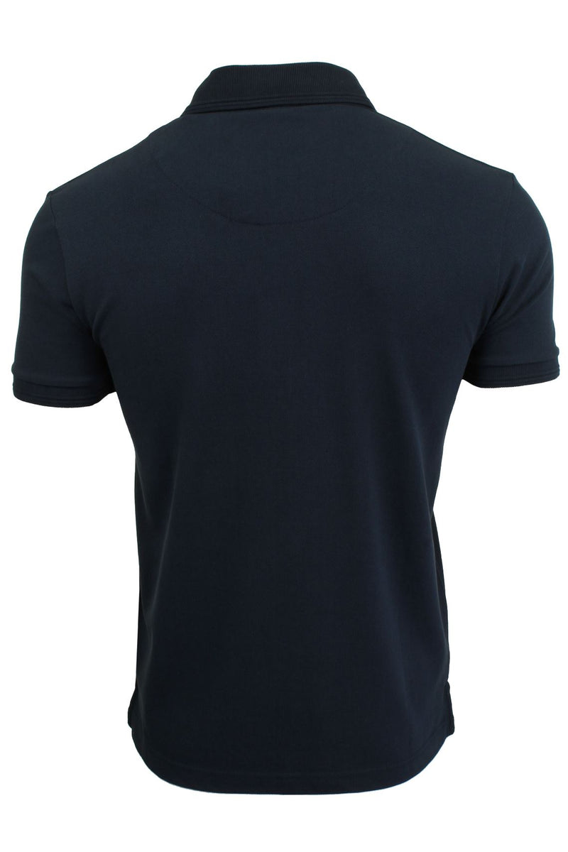 Mens Short Sleeved Polo Shirt from the Blackout Collection by Voi Jeans, 03, Dubb, #colour_Dubb - Black Irish