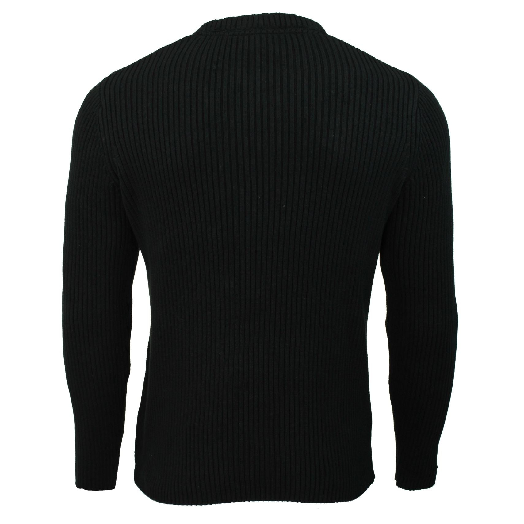 Mens Jumper by Xact Clothing Ribbed Long Sleeved-4