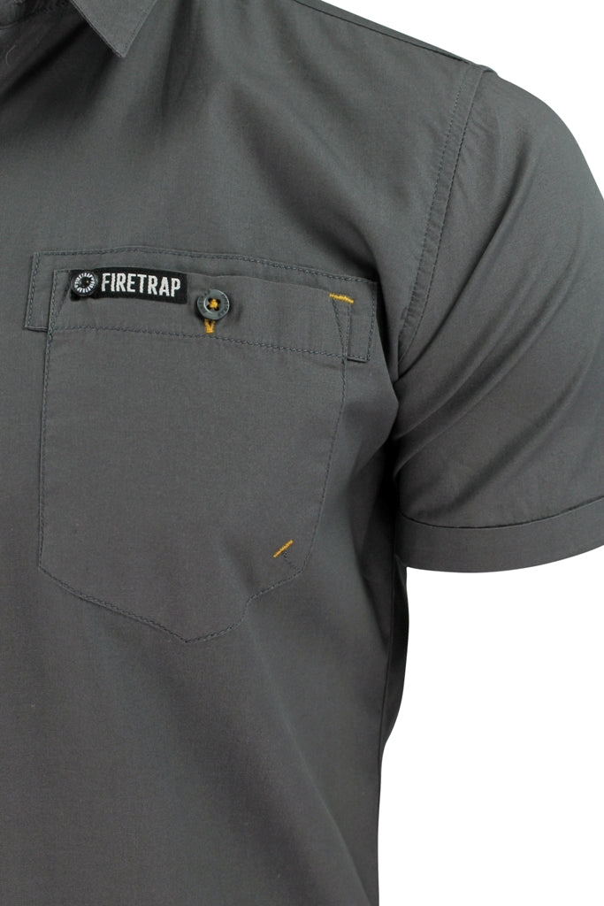 Mens Short Sleeved Shirt by Firetrap-3