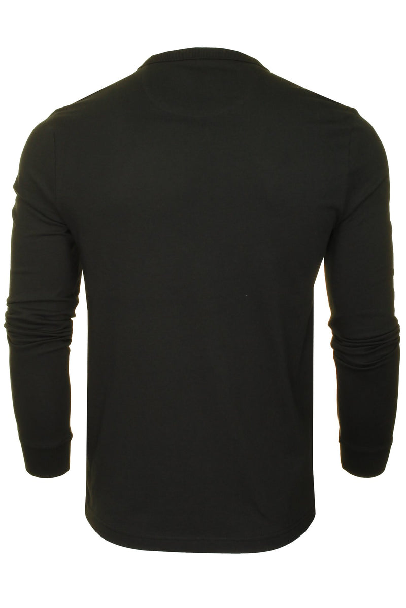 Farah Mens 'Worthington' Long Sleeved T-Shirt, 03, F4Ksb057, #colour_Black