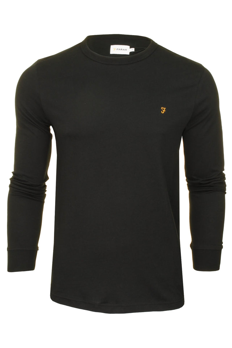 Farah Mens 'Worthington' Long Sleeved T-Shirt, 01, F4Ksb057, #colour_Black
